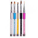 hesapli El Sanatları Gereçleri-5pcs Nail Art Aracı Tırnak Fırçaları Modaya Uygun Takı / Renkli tırnak sanatı Manikür pedikür Yüksek kalite / DIY