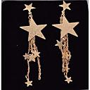 رخيصةأون Body Massager-نسائي ستايل أقراط قطرة الأقراط نجمة سيدات أنيق مجوهرات ذهبي من أجل مناسب للخارج مهرجان 1 زوج