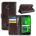 رخيصةأون Motorola أغطية / كفرات-غطاء من أجل موتورولا Moto Z2 play / Moto X4 / MOTO G6 محفظة / حامل البطاقات / قلب غطاء كامل للجسم لون سادة قاسي جلد أصلي