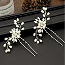 ieftine Bijuterii de Păr-Pentru femei Simplu Material Textil Aliaj Cristal Bețe de Păr Petrecere Ceremonie - Floral