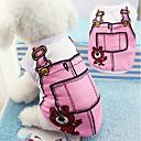 voordelige Hondenkleding & -accessoires-Honden T-shirt Hondenkleding Cartoon Blauw / Roze Katoen Kostuum Voor huisdieren Unisex Vakantie / Vrije tijd