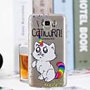 رخيصةأون حافظات / جرابات هواتف جالكسي J-غطاء من أجل Samsung Galaxy J7 (2017) / J6 / J5 (2017) شفاف / نموذج غطاء خلفي قطة ناعم TPU
