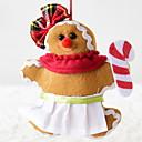 رخيصةأون تزيين المنزل-تماثيل الكريسمس عطلة نسيج القطن مربع حداثة زينة عيد الميلاد