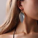 preiswerte Ohrringe-Damen Stilvoll Tropfen-Ohrringe - Blattform, Kreativ Einzigartiges Design, Beiläufig / sportlich, Hyperbel Schwarz / Silber / Rot Für Party / Abend Strasse