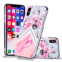 billige iPhone-etuier-Etui Til Apple iPhone X / iPhone 8 Plus Mønster Bagcover Blomst / Marmor Blødt TPU for iPhone X / iPhone 8 Plus / iPhone 8