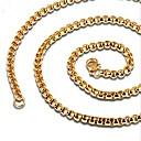 hesapli LED Aksesuarlar-Erkek Şık Kolye - Titanyum Çelik Yaratıcı Moda Havalı Altın, Siyah 60 cm Kolyeler Mücevher 1pc Uyumluluk Günlük