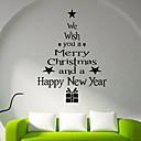hesapli Pencere Malzmeleri-Pencere Filmi ve Çıkartma Dekorasyon Noel Tatil PVC Pencere Çıkartması / Dükkanı / Kafe