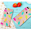 abordables Coques d'iPhone-Coque Pour Apple iPhone X / iPhone 8 / iPhone 7 Ultrafine / Motif Coque Nourriture Flexible TPU pour iPhone X / iPhone 8 Plus / iPhone 8