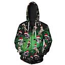 رخيصةأون قمصان رجالي-رجالي قياس كبير بنطلون - 3D أخضر / عيد الميلاد / مع قبعة / كم طويل / طويلة