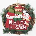 cheap Home Decoration-Christmas Ornaments Holiday Cotton Fabric Round Cartoon / Novelty Christmas Decoration