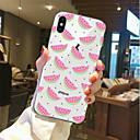 preiswerte Körperschmuck-Hülle Für Apple iPhone X / iPhone 8 Transparent / Muster Rückseite Lebensmittel / Frucht Weich TPU für iPhone X / iPhone 8 Plus / iPhone 8