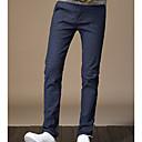 رخيصةأون صيني-رجالي مناسب للبس اليومي تشينوز بنطلون - منقوش قطن أسود أزرق البحرية رمادي 34 36 38