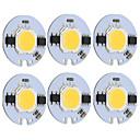 cheap Car Headlights-9W Round COB Led Chip Smart IC AC 220V for DIY Ceiling Light Downlight Spotlight Warm/Cold White (6 Pcs)