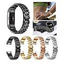 저렴한 Fitbit 밴드 시계-시계 밴드 용 Fitbit Charge 2 핏빗 스포츠 밴드 / 쥬얼리 디자인 스테인레스 스틸 / 세라믹 손목 스트랩