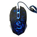preiswerte Mäuse-Factory OEM Wired USB Gaming Mouse 6 pcs Schlüssel LED Licht 4 einstellbare DPI-Stufen 6 programmierbare Tasten 3200 dpi