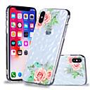 رخيصةأون أغطية أيفون-غطاء من أجل Apple iPhone X / iPhone 8 Plus / iPhone 8 نموذج غطاء خلفي زهور ناعم TPU