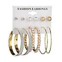 ieftine Cercei-Pentru femei Cercei Stud Cercei Rotunzi #D femei Boem Modă Imitație de Perle cercei Bijuterii Auriu / Argintiu Pentru Cadou Zilnic 6 perechi