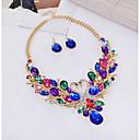 ieftine Colier la Modă-Pentru femei Lănțișor Cercei Stl Lebădă Curcubeu femei Stilat Clasic Diamante Artificiale cercei Bijuterii Auriu Pentru Petrecere