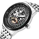 levne Pánské-Pánské Sportovní hodinky Náramkové hodinky japonština Křemenný Velkoformátové Nerez Stříbro S dutým gravírováním Hodinky na běžné nošení Cool Analogové Luxus Módní - stříbrná / černá Gold / White