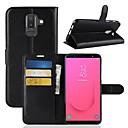 ieftine USB-uri-Maska Pentru Samsung Galaxy J8 (2018) / J7 (2017) / J7 (2018) Portofel / Titluar Card / Întoarce Carcasă Telefon Mată Greu PU piele