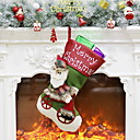 cheap Home Decoration-Stockings / Bag Cartoon Plastic Cartoon Toy Christmas Decoration