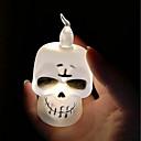 hesapli LED Şerit Işıklar-brelong cadılar bayramı led kabak kafatası mum gece lambası 1 adet