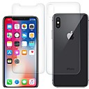 cheap iPhone X Screen Protectors-Screen Protector for Apple iPhone X Tempered Glass 2 pcs Front & Back Protector High Definition (HD) / 9H Hardness / 2.5D Curved edge