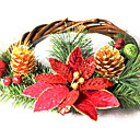 cheap Home Decoration-Garlands / Christmas Ornaments Holiday Wooden Round Party / Novelty Christmas Decoration