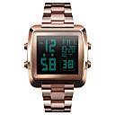 Χαμηλού Κόστους Ανδρικά ρολόγια-SKMEI Ανδρικά Αθλητικό Ρολόι Ρολόι Καρπού Ψηφιακό ρολόι Ψηφιακό Ανοξείδωτο Ατσάλι Μαύρο / Ασημί / Χρυσό 30 m Ανθεκτικό στο Νερό Συναγερμός Ημερολόγιο Ψηφιακό Καθημερινό Μοντέρνα -  / Ενας χρόνος