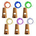 cheap Downlights-ZDM 6PCS Bottle Lights Fairy String LED Lights 78 inches / 2 m Copper Wire 20 LED Bulbs Suitable Party Wedding Concert Festival Christmas Tree Decoration