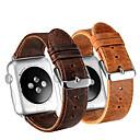 저렴한 애플 시계 밴드-시계 밴드 용 Apple Watch Series 4/3/2/1 Apple 가죽 루프 가죽 / 천연 가죽 손목 스트랩