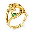 billige herrejakker-Dame Grøn Kvadratisk Zirconium Justerbar ring indpakning ring Plastik Fugl Damer Romantik Mode Moderinge Smykker Guld Til Forlovelse Gave Justerbar