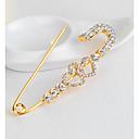 ieftine Broșe-Pentru femei Broșe #D Inimă Hollow Heart femei Stilat Design Unic Ștras Placat Auriu Broșă Bijuterii Auriu Pentru Zilnic Muncă