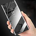 رخيصةأون إكسسوارات سامسونج-غطاء من أجل Samsung Galaxy Note 9 / Note 8 مع حامل / مرآة / قلب غطاء كامل للجسم لون سادة قاسي جلد PU