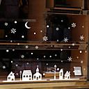 hesapli Pencere Malzmeleri-Pencere Filmi ve Çıkartma Dekorasyon Çağdaş / Şehir Manzarası Çiçekli / Karakter PVC Pencere Çıkartması