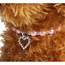 preiswerte Hundehalsbänder, Geschirre & Leinen-Hunde / Katzen Halskette Tragbar / Regolabile / Einziehbar / Dekoration Solide / Liebe Kunststoff Purpur / Blau / Rosa