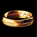 ieftine Accesorii Animale Mici-Bărbați Clasic Stl Band Ring Inel Groove Inele Oțel titan Αριθμοί Scrisă stăpânul Inelelor Artistic European Inspirațional Bijuterii inițială Inele la Modă Bijuterii Auriu / Negru / Argintiu Pentru