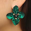 preiswerte Halsketten-Damen Kubikzirkonia Retro Kreolen - Diamantimitate Flower Shape Luxus, Hyperbel Gelb / Rot / Grün Für Geschenk Festtage