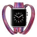رخيصةأون أغطية أيفون-جلد أصلي حزام حزام إلى Apple Watch Series 4/3/2/1 أزرق / فضة / أحمر 23CM / 9 بوصة 2.1cm / 0.83 Inches