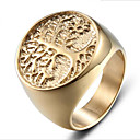 cheap Rings-Men's Vintage Style 3D Band Ring - Titanium Steel Tree of Life Simple, Classic Jewelry Gold For Halloween Daily Work 9 / 10