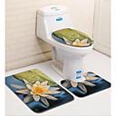 preiswerte Matten & Teppiche-3 Stück Modern Badvorleger 100g / m2 Polyester gestricktes Stretch Blumenmuster Irregulär Bad