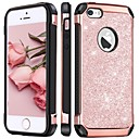 abordables Fundas para iPhone-BENTOBEN Funda Para Apple Funda iPhone 5 Antigolpes / Cromado / Brillante Funda Trasera Brillante Dura Cuero de PU / ordenador personal para iPhone SE / 5s / iPhone 5c