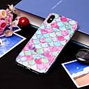 رخيصةأون أقراط-غطاء من أجل Apple iPhone XS / iPhone XR / iPhone XS Max IMD / شبه شفّاف غطاء خلفي خطوط / أمواج / مأكولات ناعم TPU