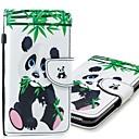 رخيصةأون حافظات / جرابات هواتف جالكسي S-غطاء من أجل Samsung Galaxy S9 / S9 Plus / S8 Plus محفظة / حامل البطاقات / مع حامل غطاء كامل للجسم باندا قاسي جلد PU