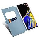 رخيصةأون إكسسوارات سامسونج-غطاء من أجل Samsung Galaxy Note 9 / Note 8 حامل البطاقات / مع حامل / قلب غطاء كامل للجسم لون سادة / قرميدة قاسي جلد PU