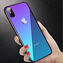 cheap iPhone Cases-Case For Apple iPhone XR / iPhone XS Max Shockproof / Translucent Back Cover Solid Colored Hard Tempered Glass for iPhone XS / iPhone XR / iPhone XS Max