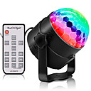 preiswerte Schalter & Steckdosen-Youoklight 3 watt rgb mini tragbare 3led bühne magie uv-licht sound aktive led rotierenden magische kugel lampe für ktv party disco club