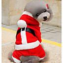hesapli Köpek Giyim ve Aksesuarları-Köpekler Kapüşonlu Giyecekler Köpek Giyimi Noel Kırmızı+Siyah / Kırmızı / Yeşil Pamuk Kostüm Evcil hayvanlar için Unisex Sıcak Tutma / Fiyonklu