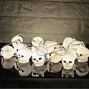 abordables Organisateurs de Câbles-HKV 3M Guirlandes Lumineuses 16 LED Blanc Créatif / Soirée / Décorative Piles AA alimentées 1pc