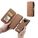 levne Galaxy S pouzdra / obaly-Carcasă Pro Samsung Galaxy Note 9 / Note 8 Peněženka / Pouzdro na karty / Nárazuvzdorné Celý kryt Jednobarevné Pevné Pravá kůže pro Note 9 / Note 8
